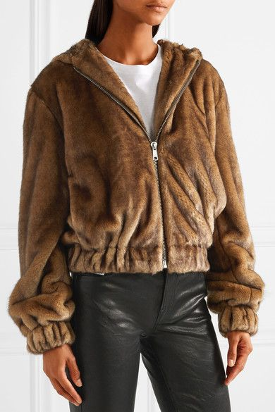 6b7b063a1 Helmut Lang - Faux fur hooded bomber jacket | Products | Hooded ...