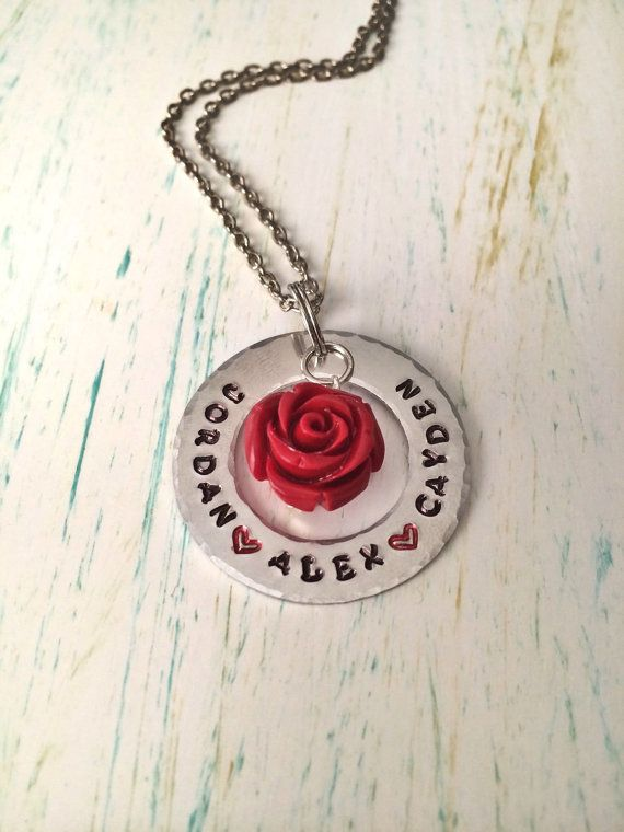 Personalized Hand Stamped Mom Necklace Stamped by ...
