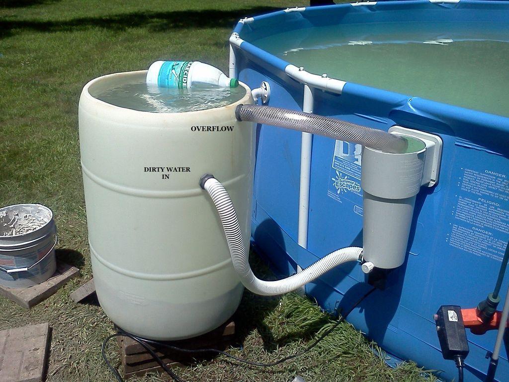 Diy non pressurized sand filter for backyard pools diy