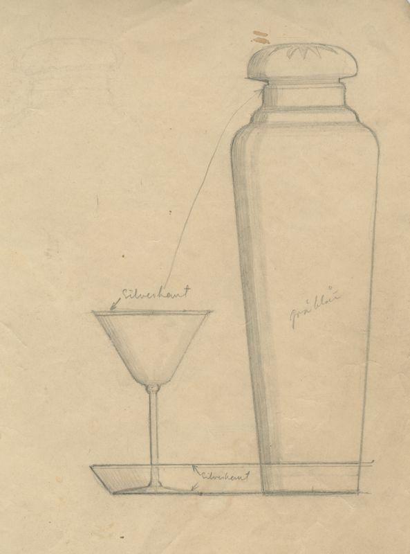 Lasiesineiden piirustus, taiteilija Göran Hongell.  #göranhongell #glass #design #glassdesign #finnishdesign