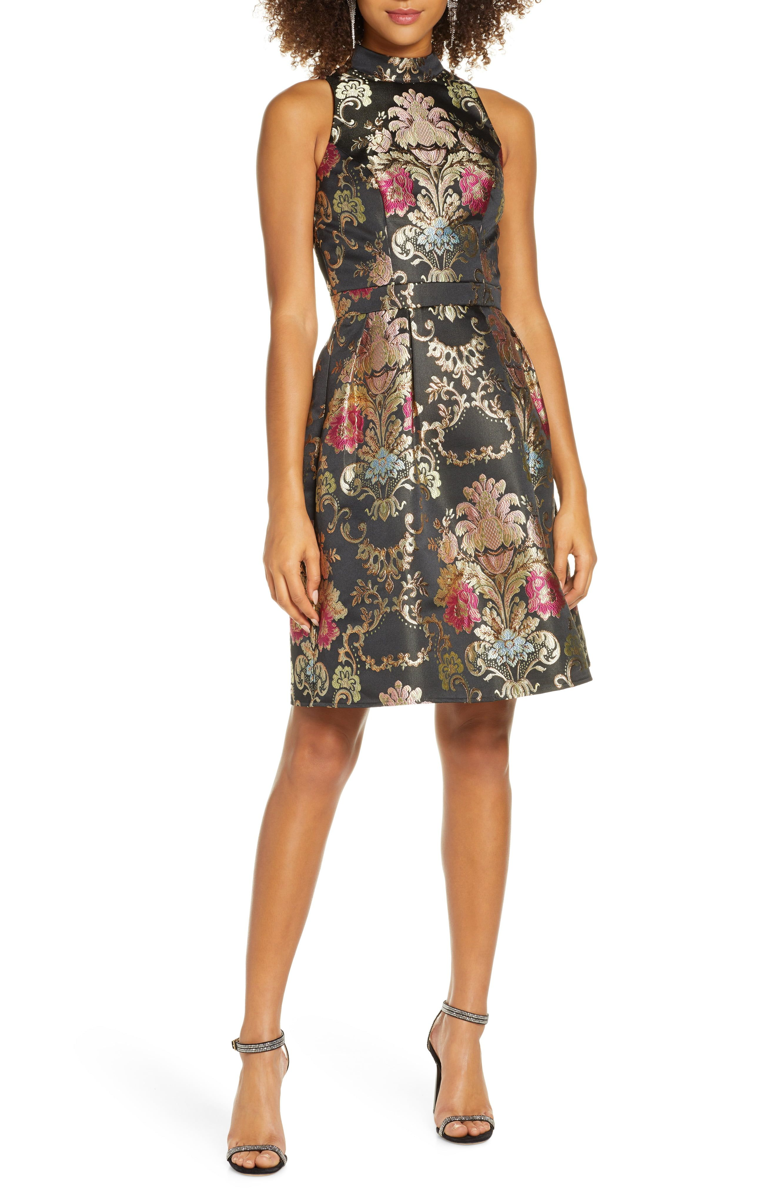 Chi Chi London Amberly Jacquard Fit Flare Cocktail Dress Nordstrom In 2021 Fit And Flare Cocktail Dress Cocktail Dress Fashion Clothes Women [ 4048 x 2640 Pixel ]