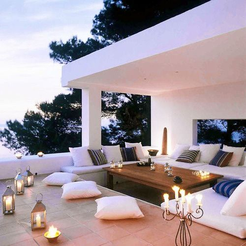 outdoor cozy grass seating | Found on idealhouse.tumblr.com
