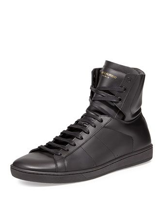 saint laurent mens high top sneakers