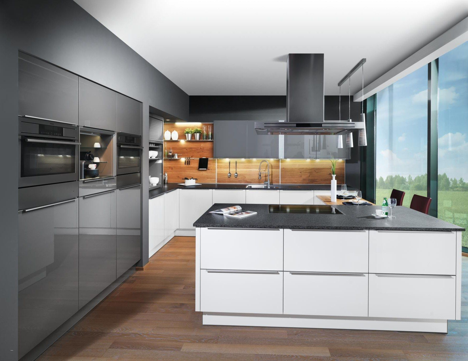 Küche Mit Holzboden Beliebt Kuchen Wandfliesen Modern
