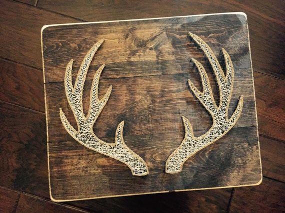 deer antler string art stringsattachedky