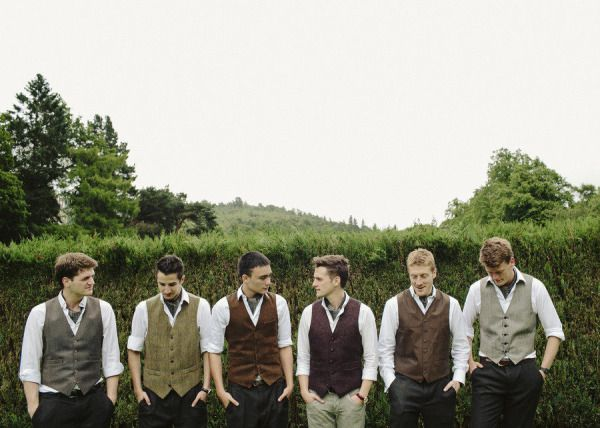 Rustic Wedding Attire For Groomsmen Groom Where Did You Get Yours Vests
