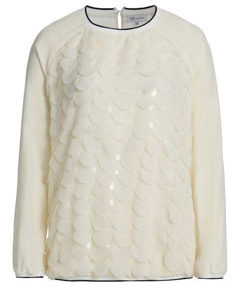 Shirt mit volantartiger Applikation - creme von NADINE H. bei Milli's Corner jetzt kaufen | kleidoo