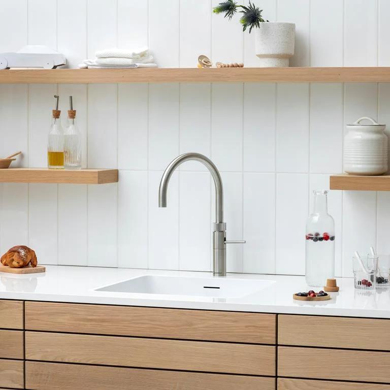 Quooker Combi Fusion Square Zwart Kokendwaterkraan Keuken Compleet Kaarsvet Verwijderen Kinderveiligheid