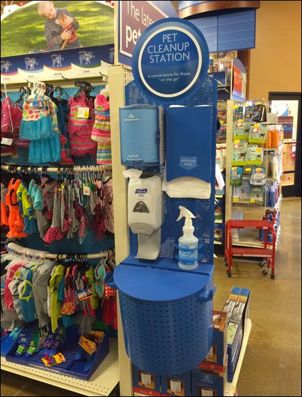 Pet Cleanup Station Outfitting In Store Fixtures Close Up Pet