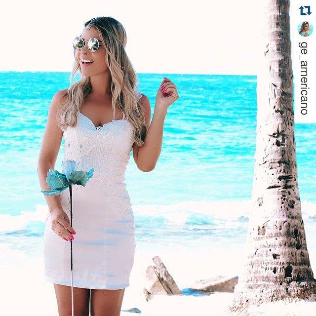O verão chegou e a @ge_americano está aproveitando, usando nosso vestido todo branco pra ficar mais linda ainda!! ・・・ ᑎO ᑭᗩᖇᗩIᔕO ! Já no clima das festas de fim de ano a nova coleção festa da @kessesoficial está perfeita demais! Arrasam mto @kessesoficial . . .
