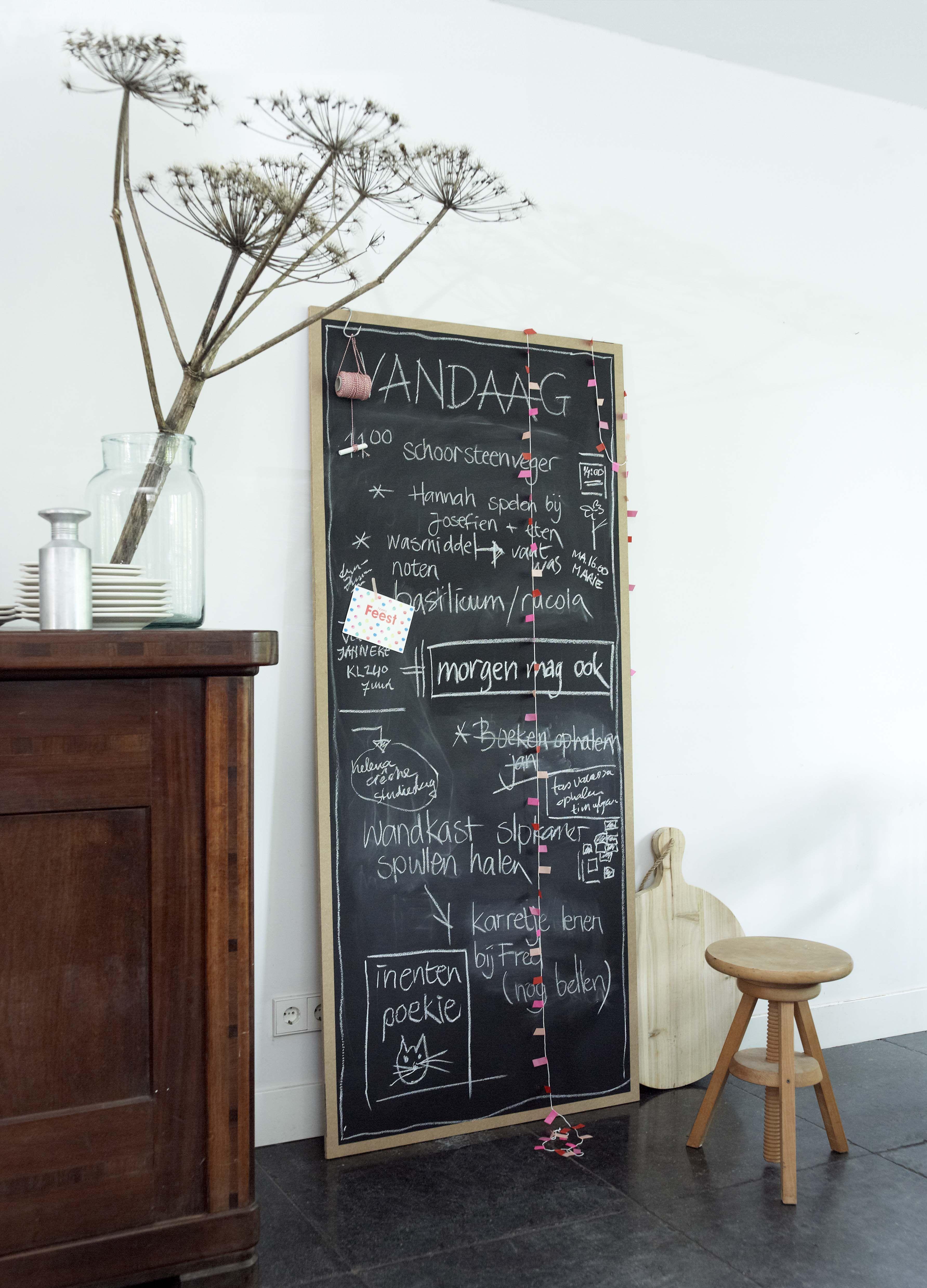 Muurdecoratie Voor Keuken.Karwei Maak Dit Krijtbord Lekker Groot Zodat Het Hele