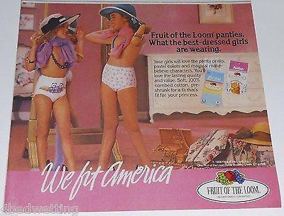 1988 vintage ad - FUNGALS FRUIT LOOM - GIRLS PANTIES UNDERWEAR 1 ...
