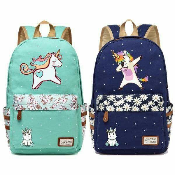Unicorn Backpack Sacos Unicornio Bonito Coisas De Unicornio