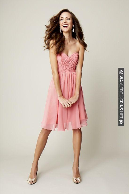short pink bridesmaid dress | CHECK OUT MORE IDEAS AT WEDDINGPINS.NET | #bridesmaids
