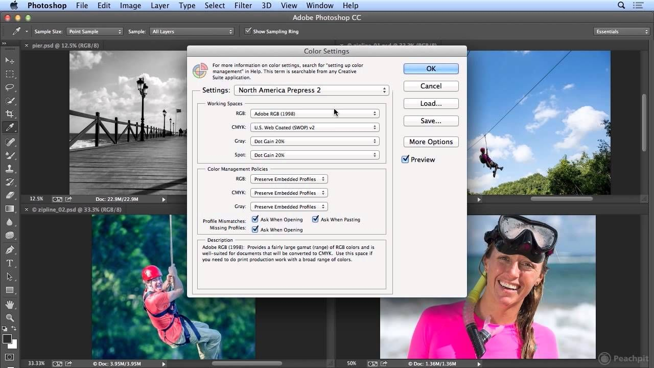 Color settings in CC Well done tutorial, very