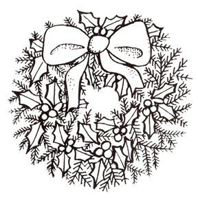Christmas Rubber Stamps Party Supplies Discontinued Christmas Wreath Stamp Christmas Embroidery Patterns Christmas Embroidery Christmas Coloring Pages