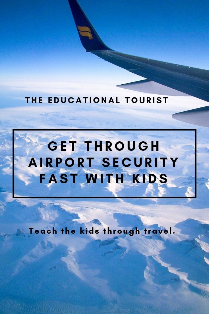 Airport security fast with the kids travelwithkids