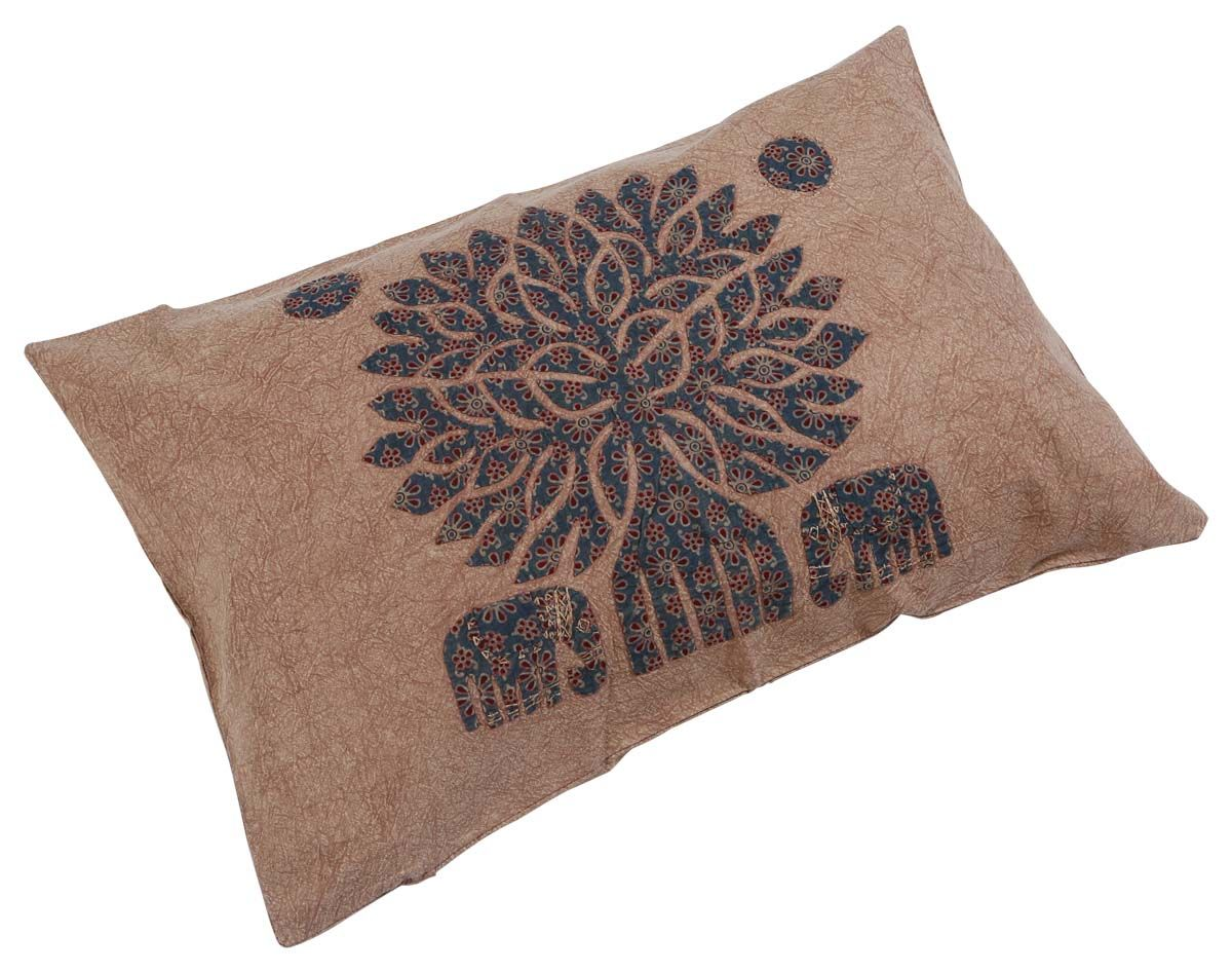 Bulk Wholesale Brown Lumbar Cushion Cover In Pure Cotton 26x11 Hand Stitched Throw Pillow Handmade Throw Pillow Handmade Cushion Covers Throw Pillow Covers