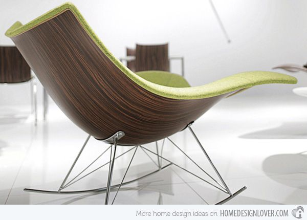 Rock With Comfort And Style 15 Modern Rocking Chairs Rocking Chair Furniture Design Upholstered Rocking Chairs