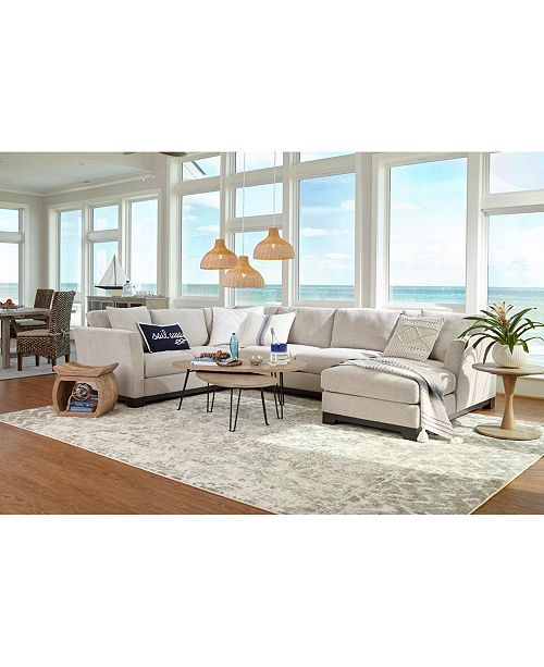 Furniture Elliot Ii 138 Quot Fabric 3 Pc Chaise Sectional
