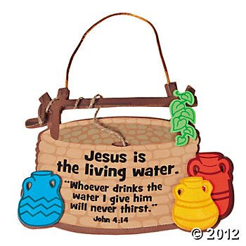 """Jesus Is The Living Water"" Sign Craft Kit, Decoration Crafts, Craft Kits & Projects, Craft & Hobby Supplies - Oriental Trading"