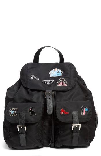 3296694ae8 Prada Embellished Nylon Backpack
