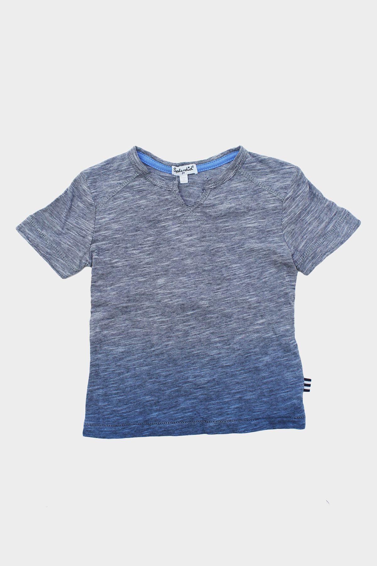 Blue Dip-Dye S/S Top