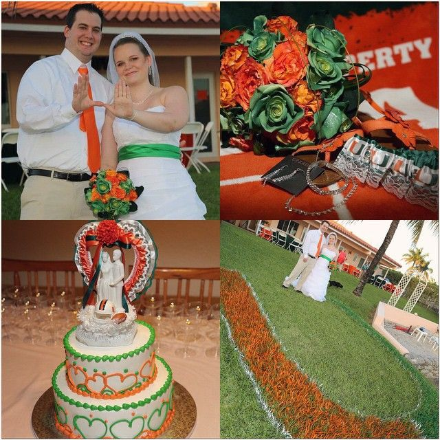This Couple Did A Miami Hurricanes Wedding Perfectly Wedding