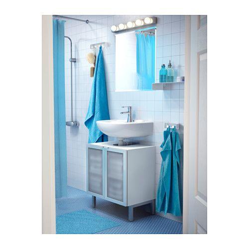 LILLNGEN Armario lavabo2 puertas  aluminio  IKEA