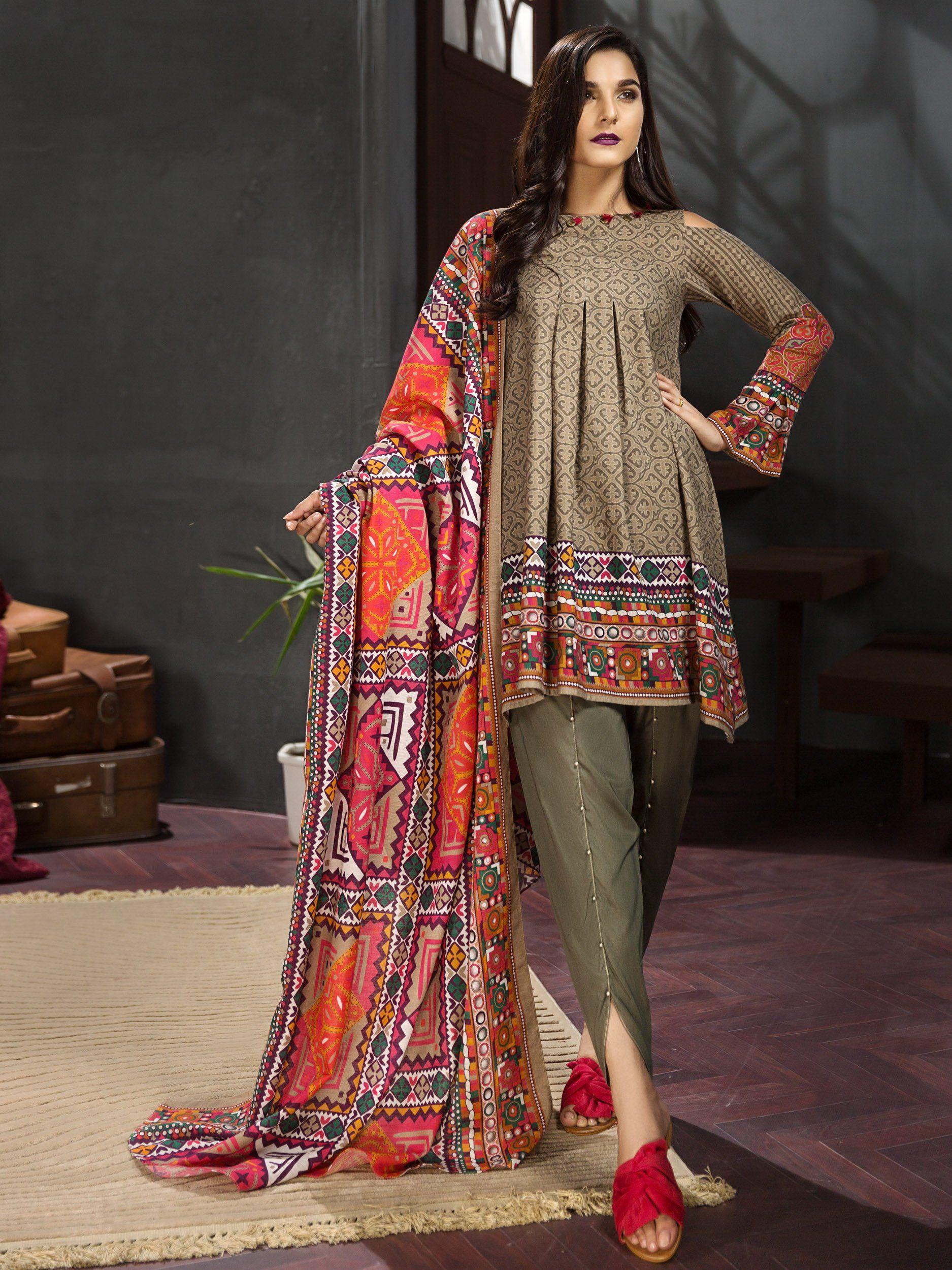 winter dresses 2018 2019 ethnic attire suit khaddar. Black Bedroom Furniture Sets. Home Design Ideas