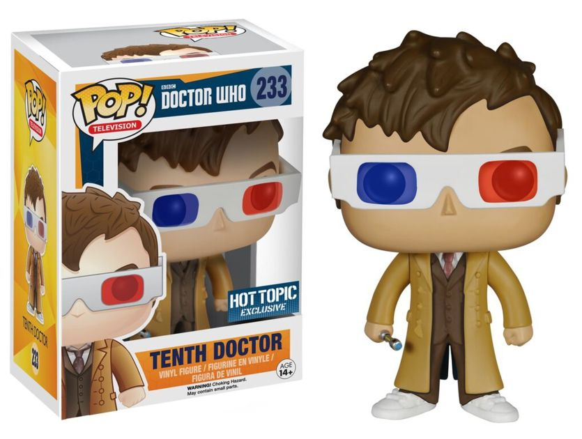 Doctor Who Funko Pop 10th Doctor 3d Specs Limited Edition Funko Pop Tv Pop Vinyl Figures Pop Figures