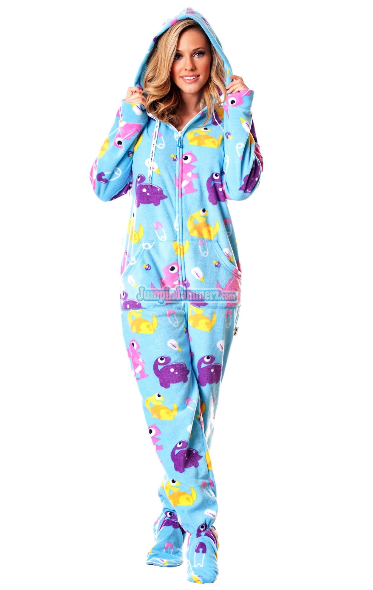 26fcc7406c Baby Dinos - Drop Seat Hoodie - Pajamas Footie PJs Onesies One Piece Adult  Pajamas