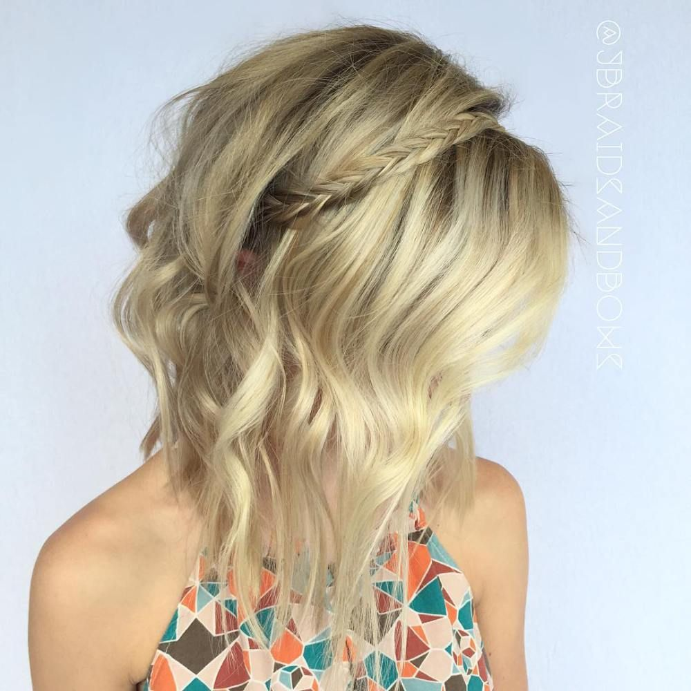 darn cool medium length hairstyles for thin hair messy lob lob