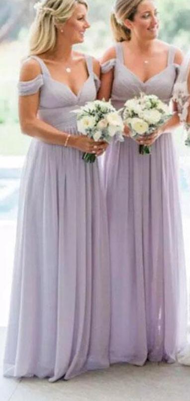 Stunning Lavender Chiffon Bridesmaid Dresses Elegant Off Shoulder Lilac Bridesmaid Dresses Bridesmaid Dresses Lavender Short Elegant Bridesmaid Dresses