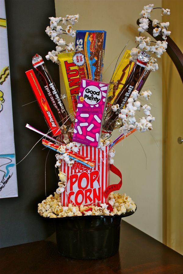 """Going to the Movies"" theme arrangement. Original design by Cami Frame"