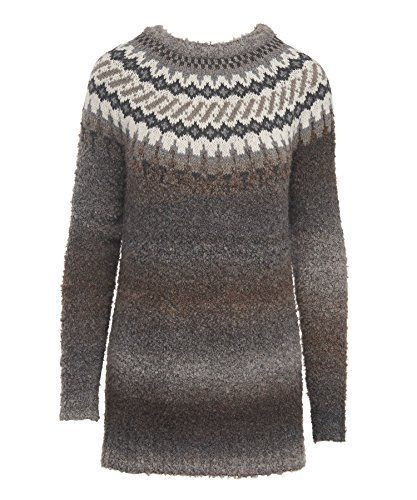 Sweaters 50993: Woolrich Women S Roundtrip Ii Fairisle Crew Neck ...
