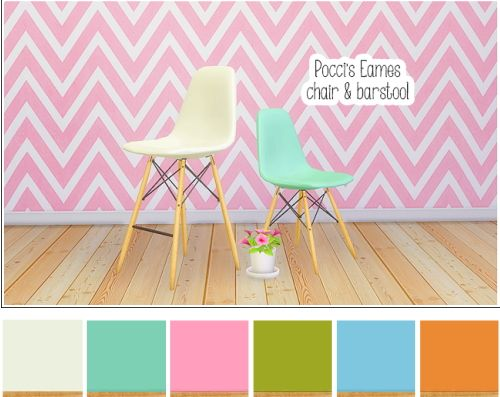 LinaCheriePocci's Eames chairbarstool • 4 Sims Nn0POXw8k