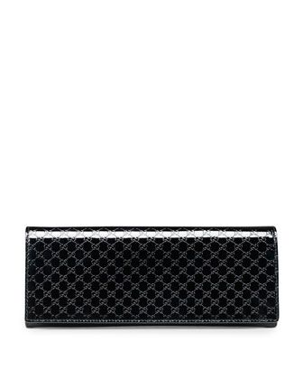 6744b018a Sis in law convinced me...it's time! Broadway Microguccissima Patent  Leather Evening Clutch, Black by Gucci at Neiman Marcus.