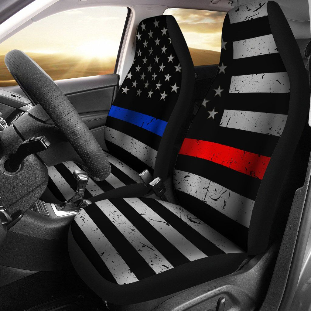 These Police Firefighter Car Seat Covers Are The Perfect Way To Show Off Your Support For Both Our Firefighter Jacked Up Trucks Car Seat Cover Sets Car Seats