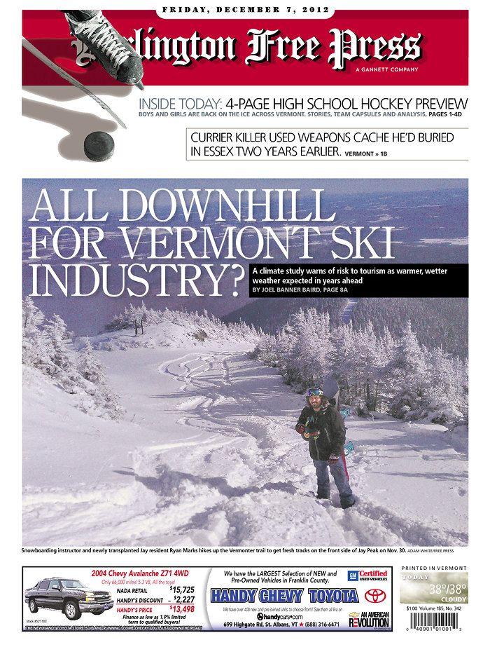 Today S Free Press Front Page Www Burlingtonfreepress Com Wetter
