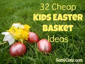 32 cheap kids easter basket ideas frugal ways to celebrate easter 32 cheap kids easter basket ideas negle Image collections