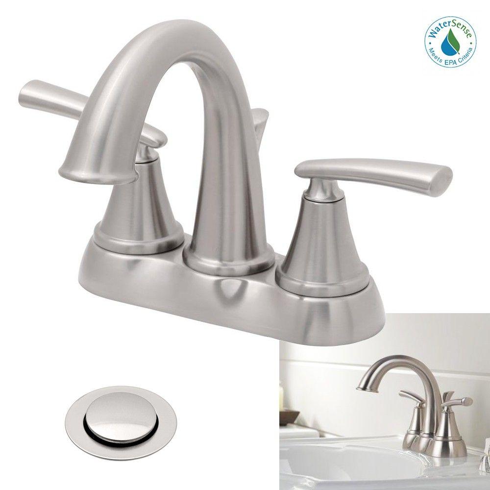 Delta Faucet Kennett 2 Handle High Arc Bathroom Sink Bath Faucet