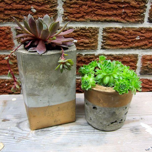 Diy Cool Concrete Planters Diy Concrete Planters 400 x 300