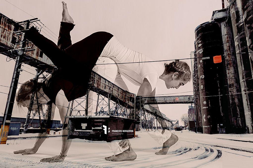 Dancer Karsten Kroll & Suzanne Miller  Silo #5 Montreal  Urban dance photography  www.fbphoto.ca