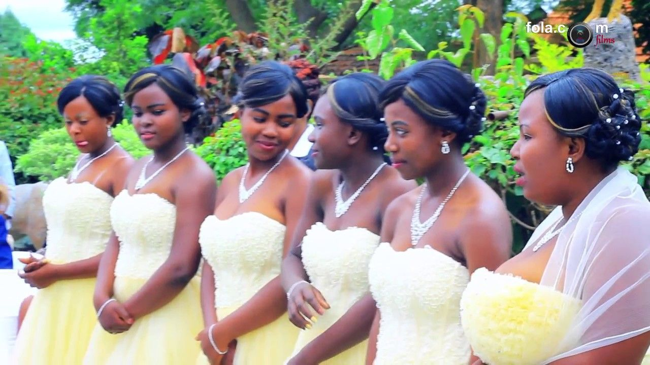 For All Your Video Coverage On Weddings 263 718 980 580 Or 263 733 236 612 Or 263 773 381 604 Source Wedding Hairstyles Wedding Hair Bangs Bridesmaid Hair