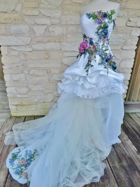 MADE TO ORDER Victorian Wedding Dress Train White By Arabescque