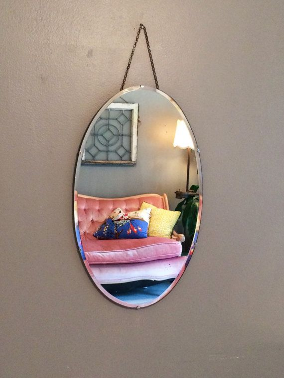 Wall Mirror Frameless Mirror Art Deco Mirror Vanity Mirror Large Antique  Round Oval Mirror Etched Mirror