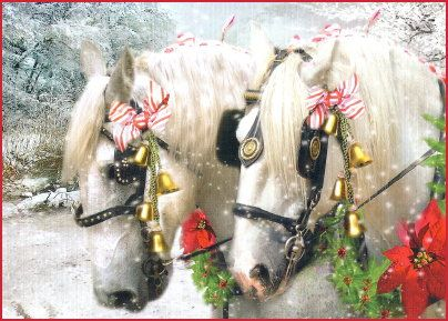 Two Magnificent Horses Christmas Cards | Art Xmas 3 | Pinterest ...