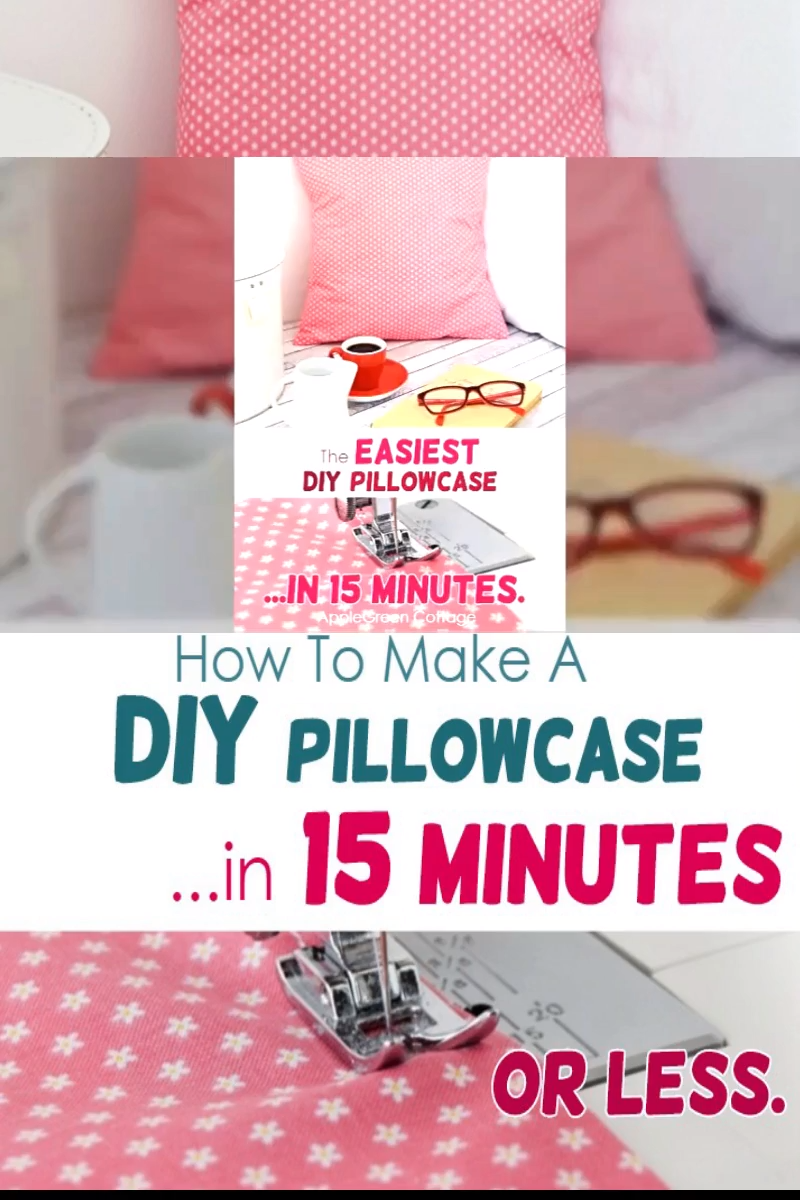 Photo of How To Make A Pillowcase – The Easiest Pillow Ever