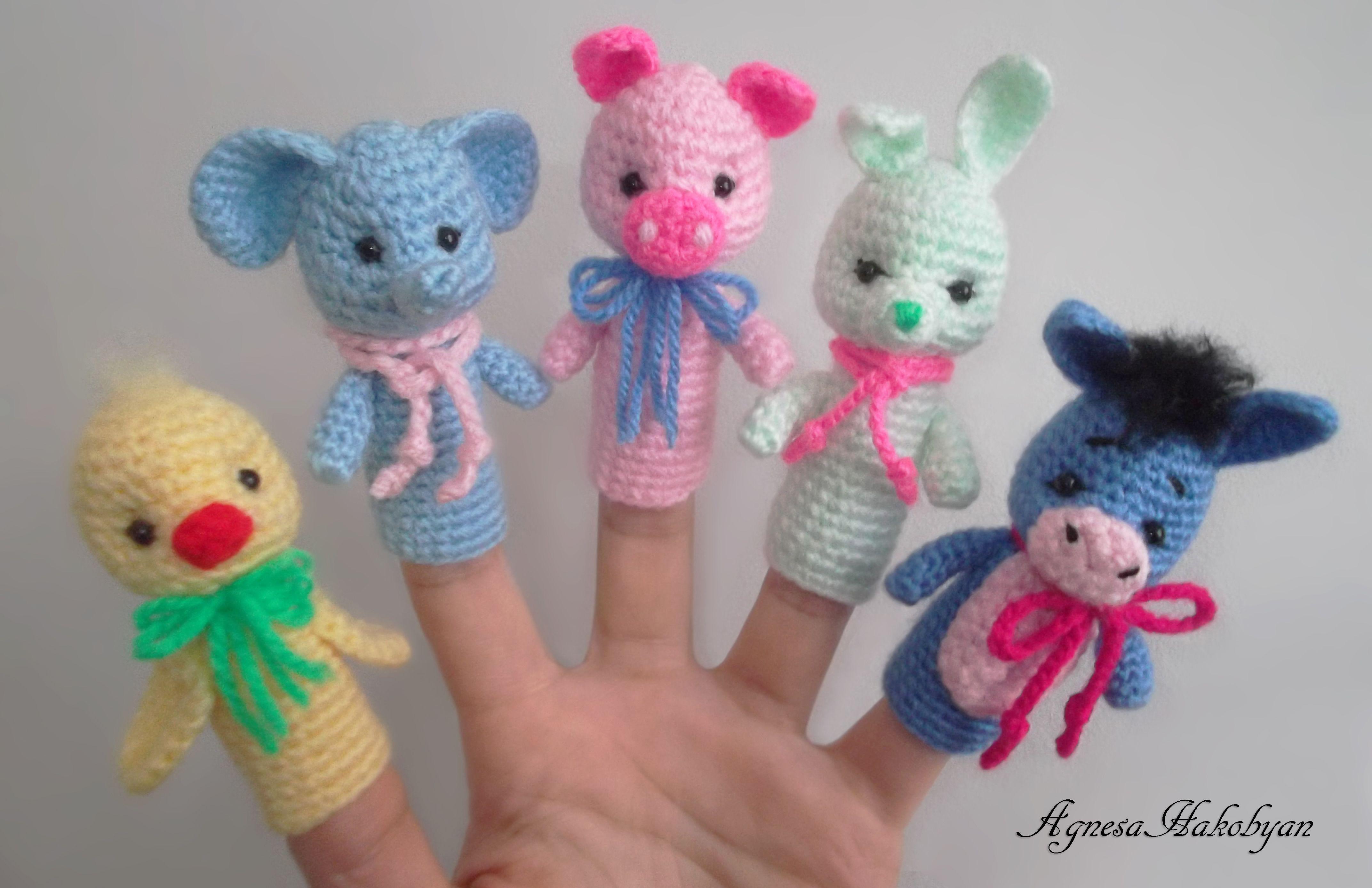 Crochet finger puppets | Baby Toys | Pinterest | Marioneta, Patrones ...